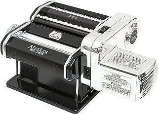 Marcato Atlas Pasta Machine with Motor Set, Black, Made in Italy