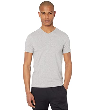Rhone Element V-Neck Tee (Heather Gray) Men