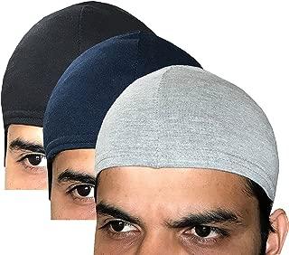 Elk Men's & Women's Cotton Helmet Cap (Pack of 3_Multicolor) Seller Apparel