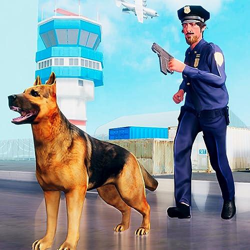 Polizei Hund Flughafen Sicherheit Abenteuer Simulator 3D: Verbrecher Gangster Verbrechen im Gefängnis Flucht Aktion spannende Überlebens Abenteuer Mission Spiele für Kinder 2018 frei
