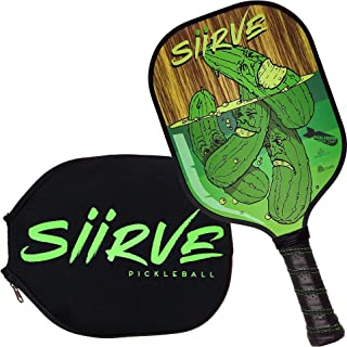 Graphite Pickleball Paddle with Cover | Premium Pickle Ball Racket and Case | Polymer Honeycomb Core
