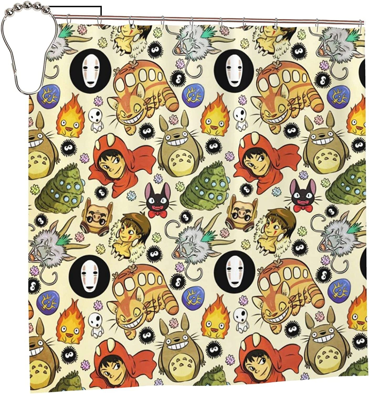 Spirited Away Anime Bathroom Shower Curtain 72