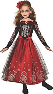 Forum Novelties Child's Day of the Dead Princess Costume Dress, As Shown, Medium