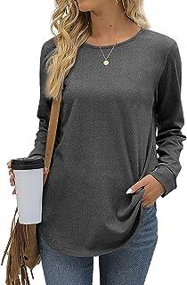 Sponsored Ad - Aokosor Sweatshirt for Women Casual Long Sleeve Tunic Tops for Leggings