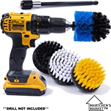 Drill Brush Attachment Power Scrubber Set with 6in Extender for a Cleaner Home. These scrubbing Brushes can Clean The Bathroom, tub, Kitchen, Shower, Grout, Tile. **Drill not Included**