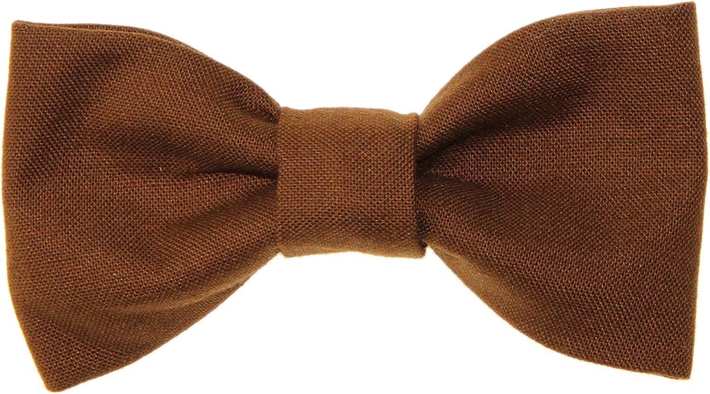 Toddler Boy 4T 5T Chestnut Brown Clip On Cotton Bow Tie Bowtie