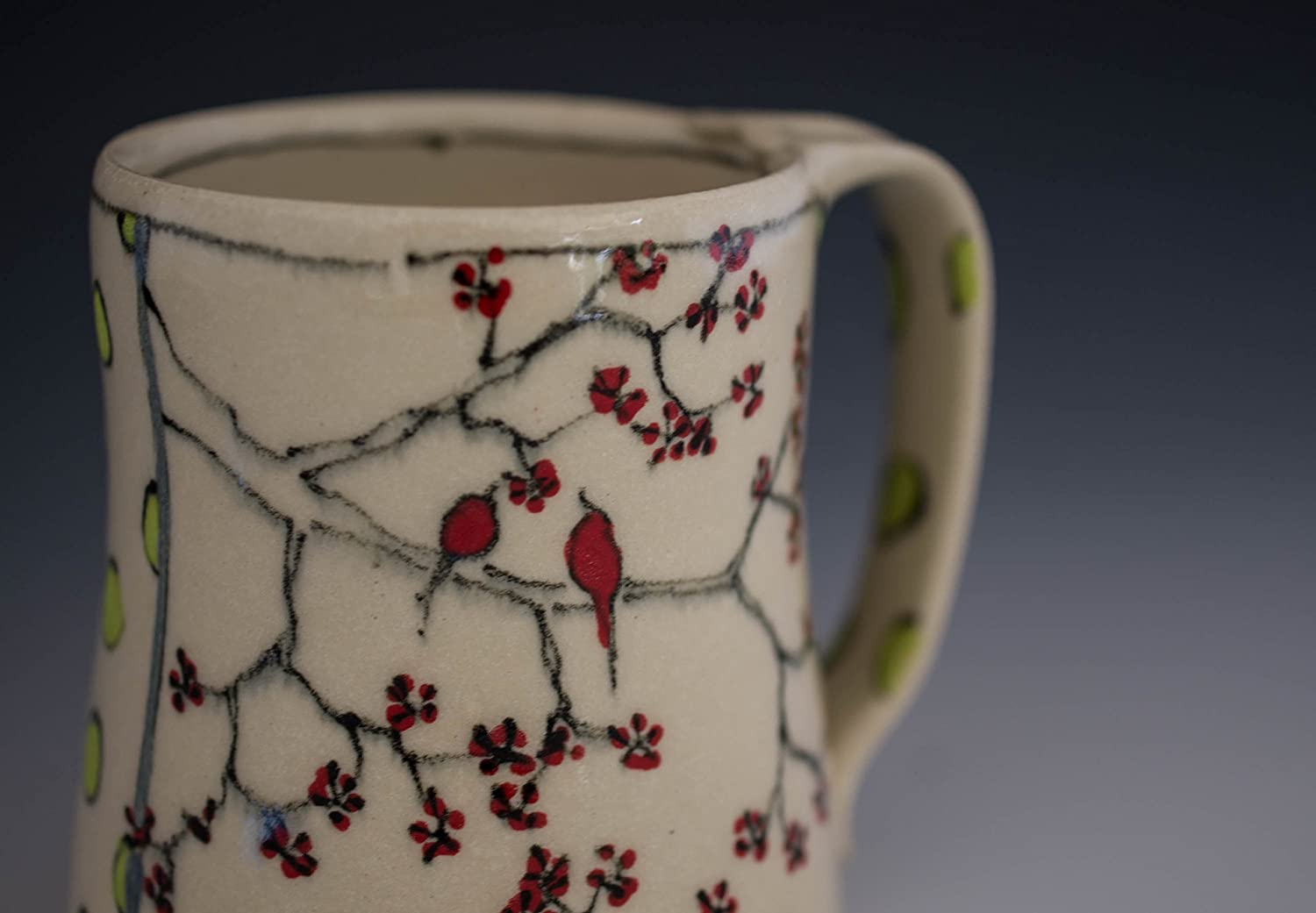 Mug SEAL limited product Over item handling ☆ Cherry Blossoms Birds and