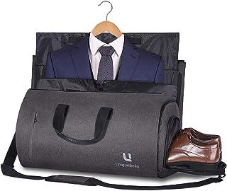 Carry on Garment Bag Large Duffel Bag Suit Travel Bag Weekend Bag Flight Bag with Shoe Pouch for Men Women