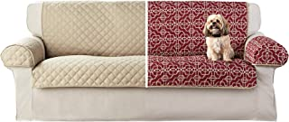 Mainstay Reversible Microfiber 3 Piece Sofa Furniture Cover Protector,Red