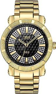 ساعة فاخرة للرجال 562 مرصعة بعدد 12 قطعة من الماس مع مينا مسطح من جيه بي دبليو