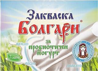 """Cultivo de yogur""""BOLGARI"""" – Paquete de 7 bolsitas de cultivo liofilizado para preparar yogur probiótico"""