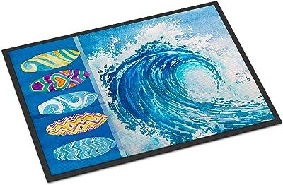 """Caroline's Treasures Surf Boards and Wave Doormat, 24"""" x 36"""", Multicolor"""