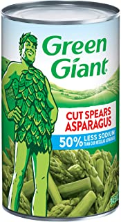 Green Giant 50% Less Sodium Cut Asparagus Spears, 14.5 Ounce Can