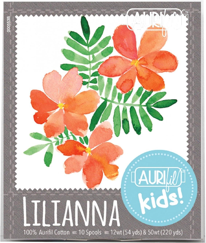Lilianna Kehnle Aurifil Kids Lilianna Aurifil Thread Kit 5 50wt & 5 12wt Small Spools LK5012LT10