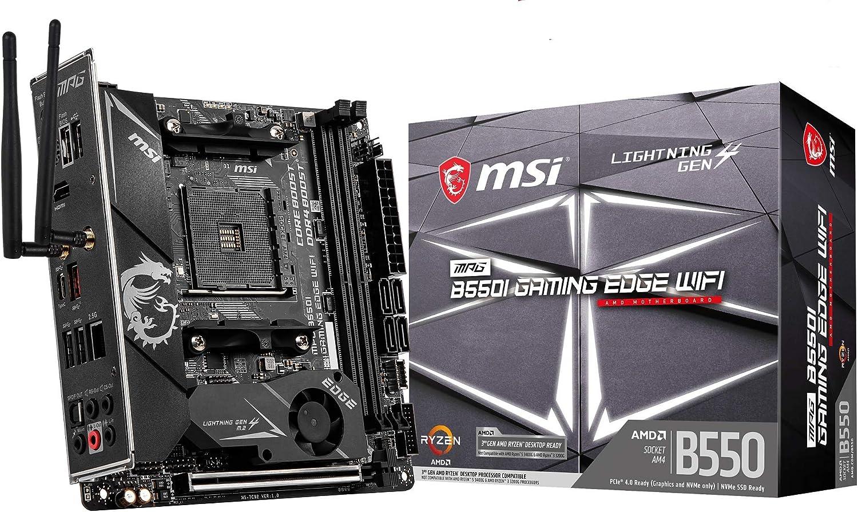 MPG B550I Gaming Edge WiFi - Placa Base Performance Gaming (AMD, AM4, DDR 4, M.2 USB 3.2, Gen 2 HDMI, ITX)