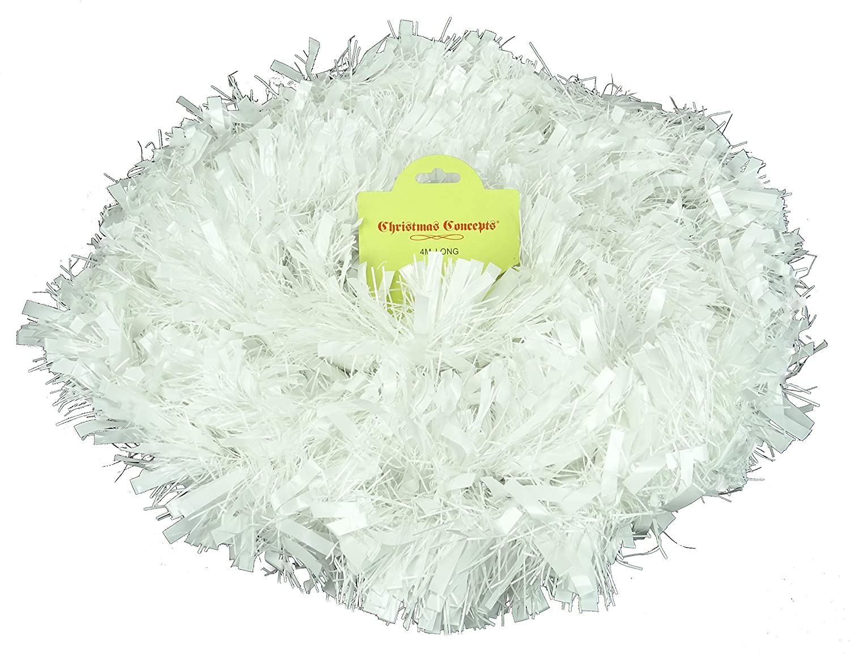Decoraciones para /árboles de Navidad Blanco Christmas Concepts 4m Fornido//Fino Oropel