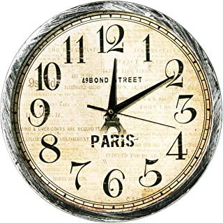 Story At Home Plastic Wall Clock Vintage Collection, Black/Beige, 30 cm X 30 cm X 1.5 cm, Wc1504