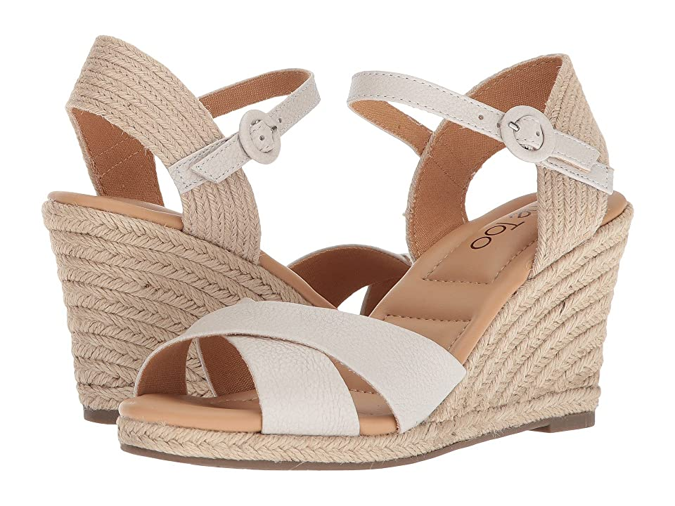 Me Too Bettina (White Cow Beaufort) Women's Wedge Shoes