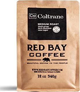 Red Bay Coffee Coltrane Colombian Whole Bean Coffee | Single Origin Coffee Beans | Colombian Coffee | Medium Roast Coffee Beans | 12oz of Specialty Coffee Beans