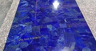 Gifts And Artefacts - Mesa de mármol para conferencias, con Piedras Preciosas de lapislázuli en el Trabajo al Azar, se Pue...