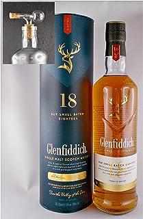 Flasche Glenfiddich 18 Jahre Single Malt Whisky  1 Glaskugelportionierer