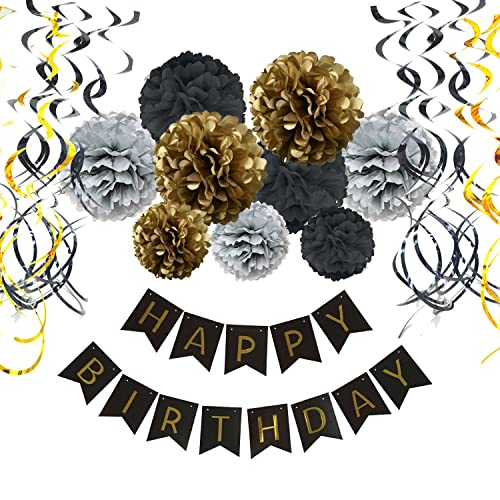 Black Gold Table Party Decorations Amazoncouk