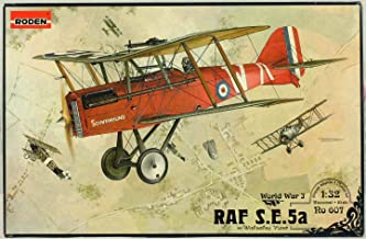 Roden 1:32 RAF S.E.5a w/ Wolseley Viper WWI Plastic Aircraft Model Kit #607