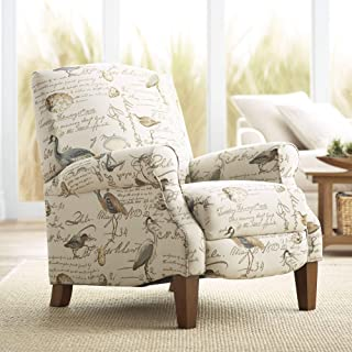 Birdsong Upholstered Fabric 3-Way Recliner Chair - Teal Island Designs