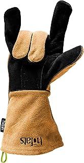 höfats - Grillhandschuhe aus Leder und Kevlar - hitzebeständig - zum Grillen, als Topfhandschuh oder Ofenhandschuh