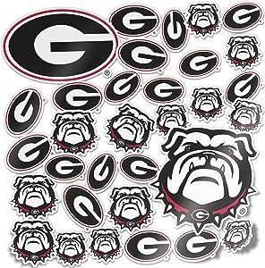 University of Georgia Bulldogs UGA Dawgs Sticker Vinyl Decal Laptop Water Bottle Car Scrapbook (Type 1 Sheet)