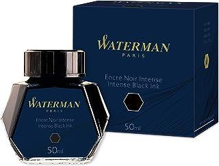 Waterman S0110710 Fountain Pen Ink, Intense Black, 50ml Bottle
