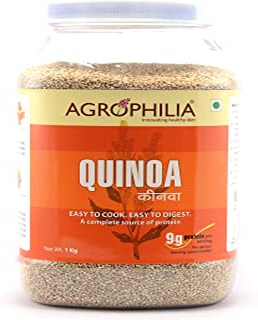 AGROPHILIA White Quinoa 1kg Jar - Gluten-Free
