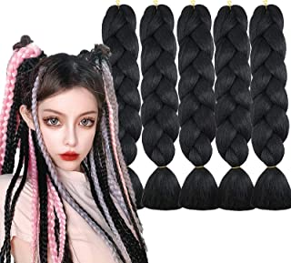 5 Pieces Jumbo Braid Synthetic Hair Kanekalon Hair Braiding Extensions