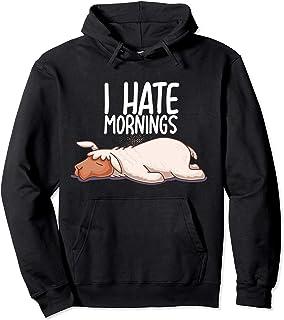 I Hate Mornings Sleeping Llama Sleep Nap Late Riser Alpaca Sweat à Capuche