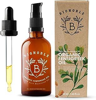 BIONOBLE ACEITE DE FENOGRECO 100% Orgánico | Macerado de Semilla de Fenogreco y Aceite de Semilla de Girasol | Bomba Pipe...