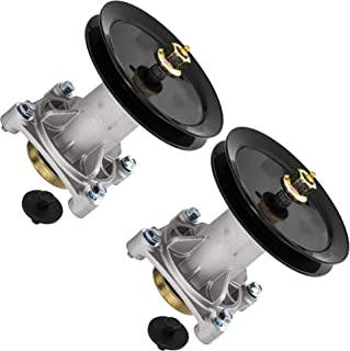 8TEN Spindle Assembly with Pulley for AYP 48 54 Inch Mower Deck PB22H48YT PB24H48YT PB22H54BF SPGT225 187292 2 Pack