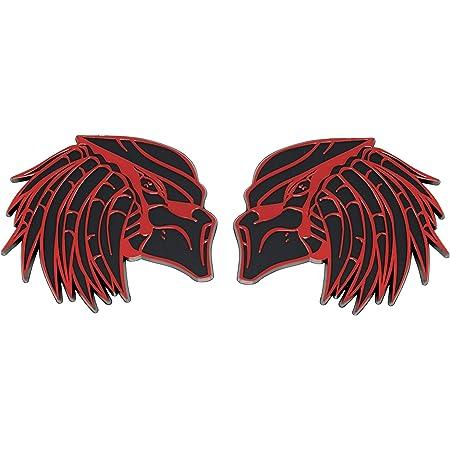 RED Right & Left Facing Predator Emblem (Set of 2)