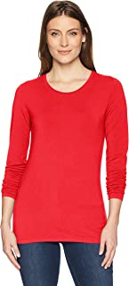 Women's Classic-Fit Long-Sleeve Crewneck T-Shirt