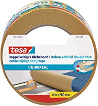 tesa Double-Sided Tape Universal, 25m x 50mm, Bruin