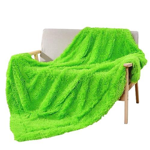 Soft Bright Green Throw Blanket Amazoncom