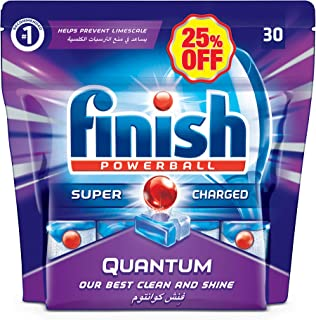 Finish Dishwasher Detergent Tablets, Quantum, 30s