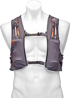 Nathan Vaporkrar Hydration Pack Running Vest, Includes two 12oz Flasks with Extended Straws, Compatible with 1.5L Reservoir Bladder, Men's