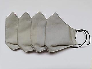 4 pz mascherine-fasce lavabili protettive bocca-naso, grigie/colorate - 3 strati di tessuto - tessuto esterno lavabile ant...