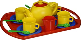 5.46 Wide 7.025 Height 7.41 Length 7.025 Height 5.46 Wide 7.41 Length Dantoy American Educational Products DT-4398 Tea Set Activity Set