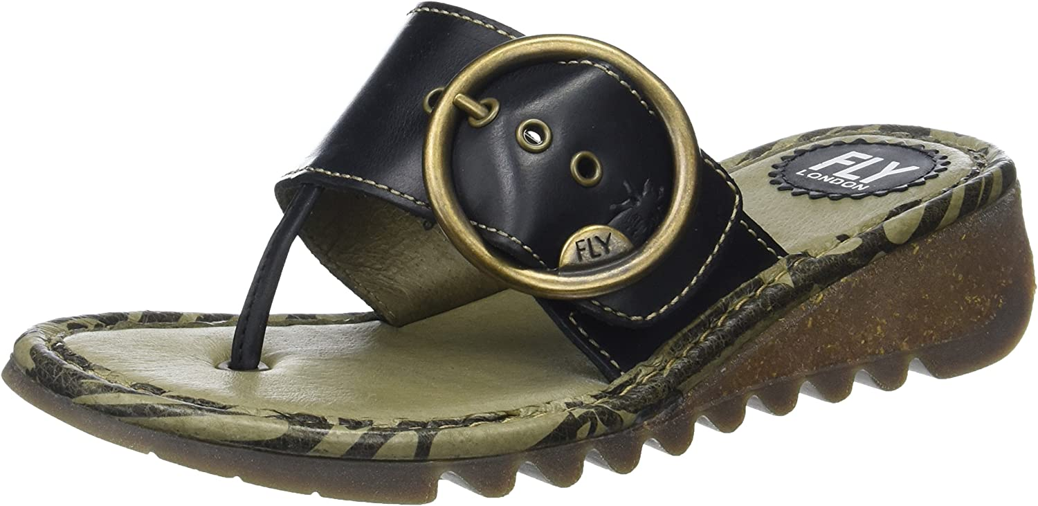 Fly London Womens Trim Leather Sandals
