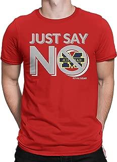 ohio shirt with michigan fan