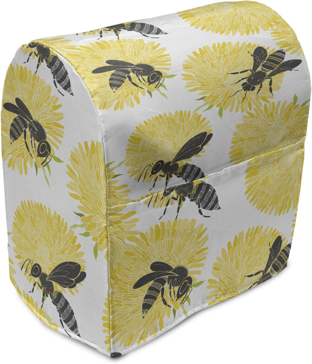 Lunarable Seattle Mall Dandelion Stand Mixer Cover Bees on Max 54% OFF Spring Wildflower