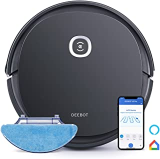 Ecovacs DEEBOT OZMO U2pro Robot Vacuum Cleaner Sweep&Mop 2in1 (150mins Runtime, Extra 800ml Large Dustbin &Tangle-Free Bru...