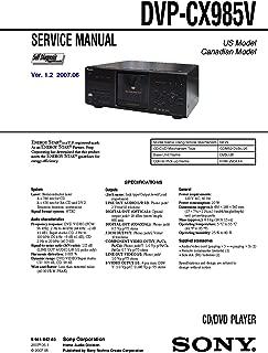 sony DVPCX985V, DVP-CX985V Service Manual