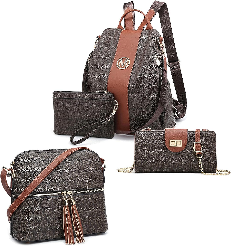MKP Women Fashion Backpack wallet Purse 4 Sets